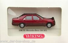 MB / Mercedes-Benz - Wiking Modell 1:87 - 500 SEL - Burgunder - NEU OVP