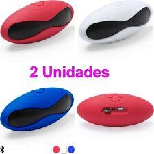 2 x Altavoz Bluetooth 3W radio FM y USB,manos libres,compatible tarjeta mini SD