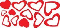 12 ADESIVI STICKERS CUORI CUORICINI HEART LOVE ADESIVO CASCO MOTO AUTO CAMERETTA
