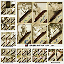 2011 CA Heritage Test Cricket Captains Facsimile Signature Card Set + Album
