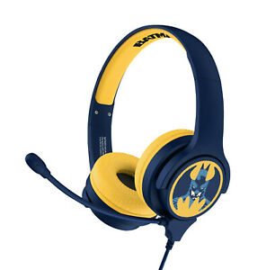 Batman Interactive Study Headphones with Boom Mic for Ages 3 Upwards