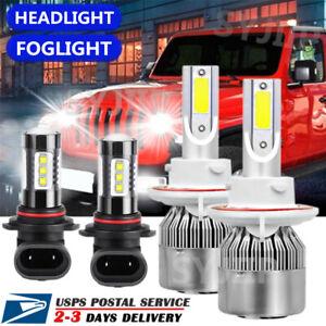 For Jeep Patriot 2007 - 2009 Combo H13 LED Headlight + 9145 Fog Light Bulbs 4PCS