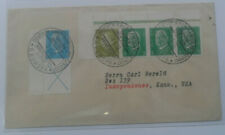 STAMP MART : GERMANY CLASSIC GOOD CANCEL 1932 COVER USED TO USA