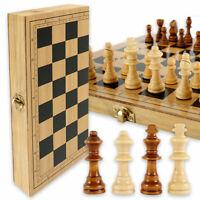 32 pièces pliant grand jeu d'échecs en bois de haute qualité échiquier enfant SH