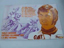Original 1975 Harley Davidson Race Poster Columbus, Ohio Gary Scott