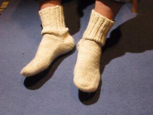 Handmade socks, pure sheep wool, thick, unisex