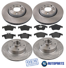 For Renault - Laguna MK3 2.0 dCi Front & Rear Brake Discs & Pads w/ ABS Bearings