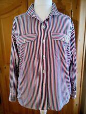 Streifen-Bluse Größe 44 Von Van Laack, 100% Baumwolle, Sehr Guter Zustand