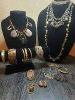Gold Tone Jewelry (Lot Of 18 Pieces) Lot #1