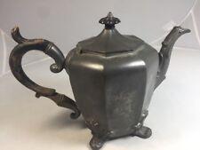 1800s Antique American Pewter Smith & Feltman Coffee Tea Urn Pot Albany NY