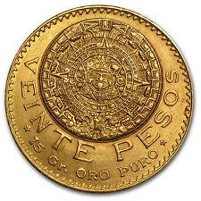 1918 Mexico Gold 20 Pesos AU - SKU #27733