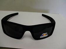 Polarized matte black sunglasses wrap dark lenses nice frame