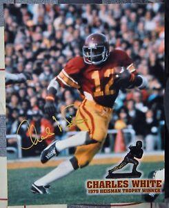 USC Trojans Football Charles White Signed 8x10 1979 Heisman Photo Auto