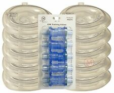Lot 10 Deluxe ADULT Collapsible CPR Training Pocket Resuscitator Masks & Valves