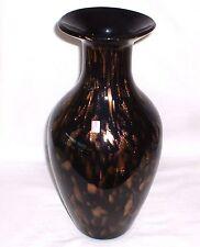 Nachtmann Schwarzglasvase  mit Kupferaventurin 36,5 cm