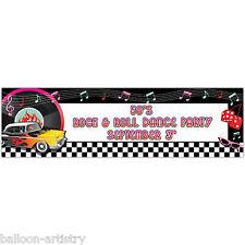 1.65m Classic anni'50 anni 1950 Rock Roll Personalizzabili Festa Gigante Firmare Bandiera 50s