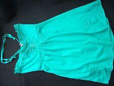 Ladies Size 10 Denim Co 100% Cotton Green Halterneck Machine Washable Top