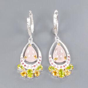 Gemstone earrings Morganite Earrings Silver 925 Sterling   /E56070