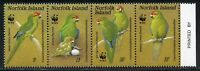 NORFOLK ISLAND SCOTT#421 BIRDS STRIP WWF   MINT NH SCOTT $17.50