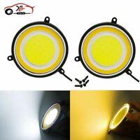 car styling Fog Lights Car Driving Daytime Running Lights 88mm Round COB LED DRL