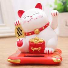 Feng Shui New Chinese Lucky Waving Gold Cat Figure Moving Arm in Colourful Box #