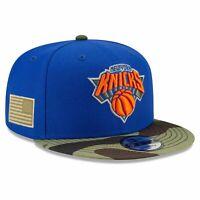 New York Knicks New Era NBA All-Star Camo 9FIFTY Snapback Hat - Blue