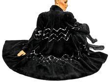 XL XXL Pelzmantel schwarz weiß Nutria geschoren Mantel Pelz shorn fur Swinger