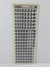 10 FOGLI TRASFERELLI TRASFERIBILI VIBO FENIX NERO   709 mm 9,5 NUMERI