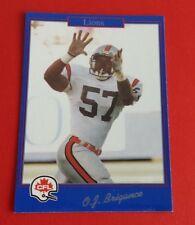 1991 Jogo CFL Football O.J. Brigance Card #186***B.C. Lions***