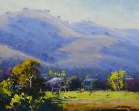 Sofala, Australian Landscape Painting, oil painting, original Australian scene,