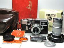 Leica M3 DS + Summaron 35mm F3.5 + Elmar 90mm F4 + Leica-Meter MC + Case