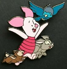 Disney Piget with Blue Bird and Forest Animals pin