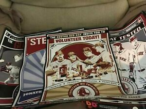 2008 Boston Red Sox Players Set Of 4 Dunkin Donuts Posters By Chris Speakman