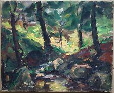 Barthélemy Debergh, XXe Siècle, Impressionnisme, Ardennes, Forêt en été, Huile