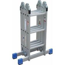 Multi Position Aluminum Ladder Locking Foldable Step, Platform & Standard Ladder