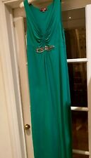 ladies green maxi dress with bead detail, Boden, size 12L,