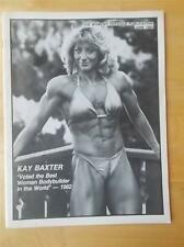 WOMEN'S PHYSIQUE PUBLICATION female bodybuilding muscle magazine/KAY BAXTER 6-83