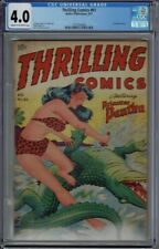 CGC 4.0 THRILLING COMICS #61 CLASSIC ALEX SCHOMBURG  AIRBRUSHED COVER 1947