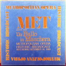 3 LP BOX MET (RCA SORIA) Verdi UN BALLO in MASCHERA 12/14/1940 BJOERLING MET-8