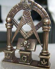 Masonic Altar Jewel  BRONZE Holy Bibel  Skull bone memento mori