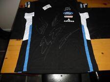 Wrc M Sport Team T Shirt New +Tags Signed By O Tanak,E Evans, Camillia M Wilson