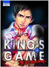 manga King's Game Extreme Tome 4 Seinen Renji Kuriyama Nobuaki Kanazawa Ki-Oon !