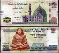 EGYPT 200 POUNDS 2018 P 77 UNC