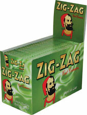 100xPks of Zig Zag Green cigarette papers rizla Full Box