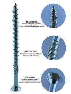 Holzbauschrauben TORX Senkkopf / 4 -10 mm - Schneidkerbe - Profi Qualität