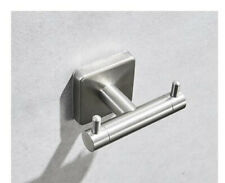 Bathroom Accessory Wall Mount Hook Hanger Brushed Nickel Holder Stainless Steel