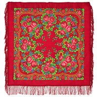 Châle russe à motifs traditionnels  100% laine - Matriochka
