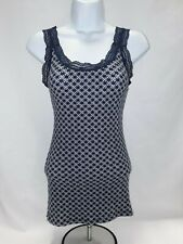 Women's Small Blue and White Old Navy Tank Top