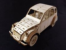 Laser Cut Wooden Citroen 2CV /  3D Model/Puzzle Kit