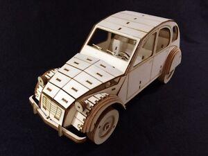 Laser Cut Wooden Citroen 2CV /  3D Model/Puzzle Kit